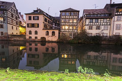 Petite-France architecture. In Strasbourg, Alsace, France Royalty Free Stock Photo