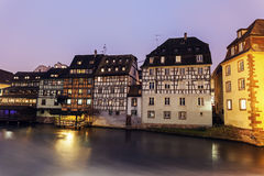 Petite-France architecture. At sunrise. Strasbourg, Alsace, France Stock Photography