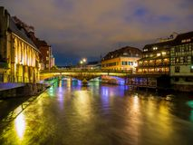 Petite France area in Strasbourg stock images