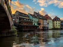 Petite France -Bereich in Straßburg lizenzfreies stockfoto