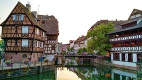 Petite France Buildings and Reflection royalty free stock photo