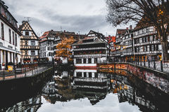 Petite France district in Strasbourg, France with Autumn colors Royalty Free Stock Photos