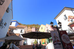 Petite France. GYEONGGI, SOUTH KOREA - October 27, 2014 : Tourists visit Petite France, a popular tourist landmark in sunny day of autumn on October 27, 2014 in royalty free stock photography