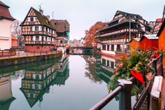 Petite France in the morning, Strasbourg, Alsace Royalty Free Stock Photos
