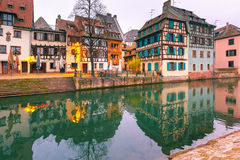 Petite France in the morning, Strasbourg, Alsace Stock Image