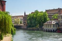Petite France område Arkivbild
