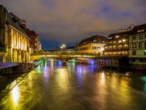 Petite France område i Strasbourg arkivbilder