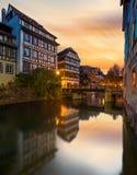 Petite France område i Strasbourg royaltyfri bild