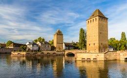 Petite France, secteur de touristes à Strasbourg, France Photographie stock libre de droits