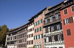 Petite France Strasbourg. Facades of buildings in Peteite France Strasbourg France Stock Images