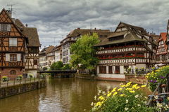 Petite France Strasbourg royaltyfri fotografi