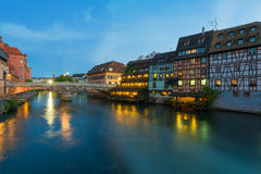Petite-France in Strasbourg. The Petite-France area in the center of Strasbourg stock photography