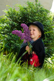 Petite girl on nature Royalty Free Stock Image