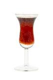 Petite glace de boisson alcoolisée intense photos libres de droits