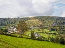 Petite hameau sur le Camino - Linares images stock