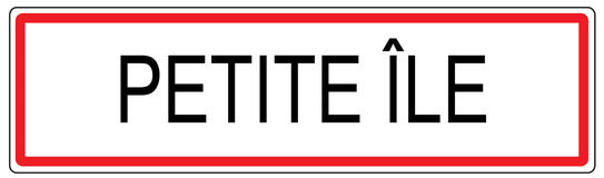 Petite Ile city traffic sign illustration in France Stock Photography