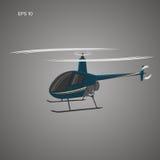 Petite illustration privée de vecteur d'hélicoptère Avions légers modernes Images stock