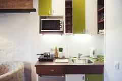 Petite kitchenette Photos libres de droits