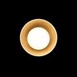 Petite lampe de tungstène dans l'abat-jour en métal Photo libre de droits