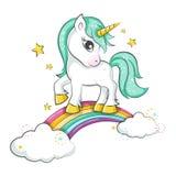 Petite licorne magique mignonne illustration libre de droits