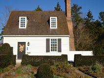 Petite maison blanche Photo stock