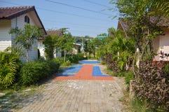 petite maison dans la station de vacances de Khlong Preng Images stock