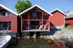 Petite maison de vacances en Suède Images stock