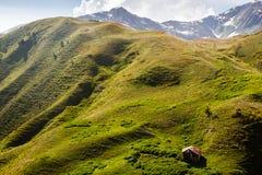 Petite maison en montagnes Photographie stock libre de droits