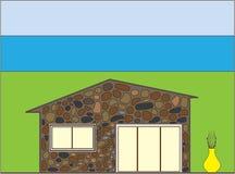 Petite maison en pierre Image libre de droits