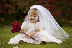 Petite mariée photographie stock