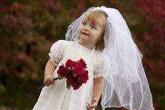 Petite mariée image stock