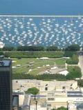 Petite marina de yacht de Chicago Images stock