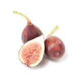 Petite Negri figs. Whole and cross-section Petite Negri figs Stock Photography