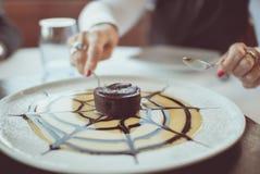 Petite part de gâteau Image stock