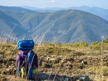 Petite pause sur le Camino - Acebo photo libre de droits