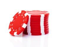 pile rouge de jeton de poker photos libres de droits. Black Bedroom Furniture Sets. Home Design Ideas