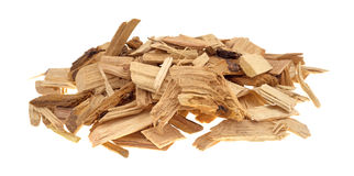 Petite pile des puces de tabagisme d'hickory pour le barbecue Photos libres de droits