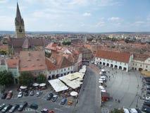 Petite place (Piata Mica), Sibiu Photographie stock libre de droits