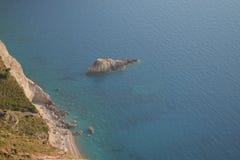 Petite plage sauvage Photographie stock