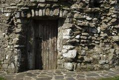 Petite porte en bois horizontale Images stock