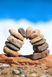 Petite porte en pierre Images libres de droits