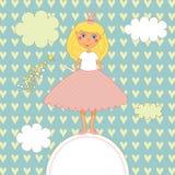 Petite princesse illustration de vecteur