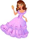 Petite princesse avec le miroir Photo stock
