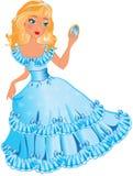 Petite princesse avec le miroir Photos libres de droits
