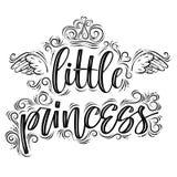 Petite princesse Calligraphie moderne créative tirée par la main illustration libre de droits