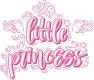 Petite princesse Calligraphie moderne créative tirée par la main illustration stock
