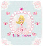 Petite princesse, carte abstraite Photos stock