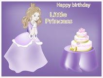 Petite princesse de joyeux anniversaire Image libre de droits