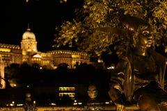 Petite princesse Statue à Budapest Images stock