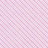 Petite répétition rose-clair et blanche de modèle de points et de rayures de polka Photographie stock libre de droits